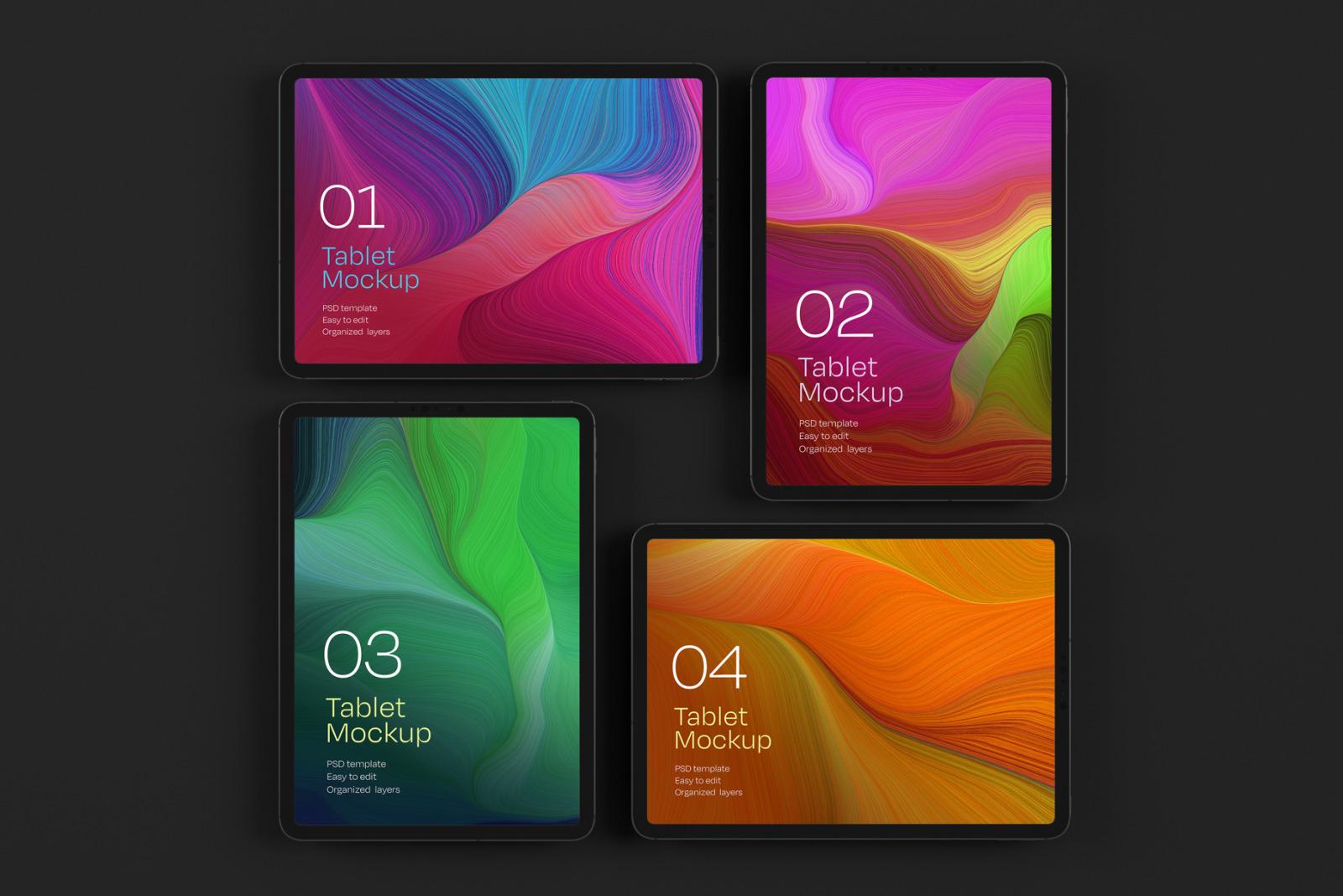 iPad Pro Mockup Set   Tablet Screen