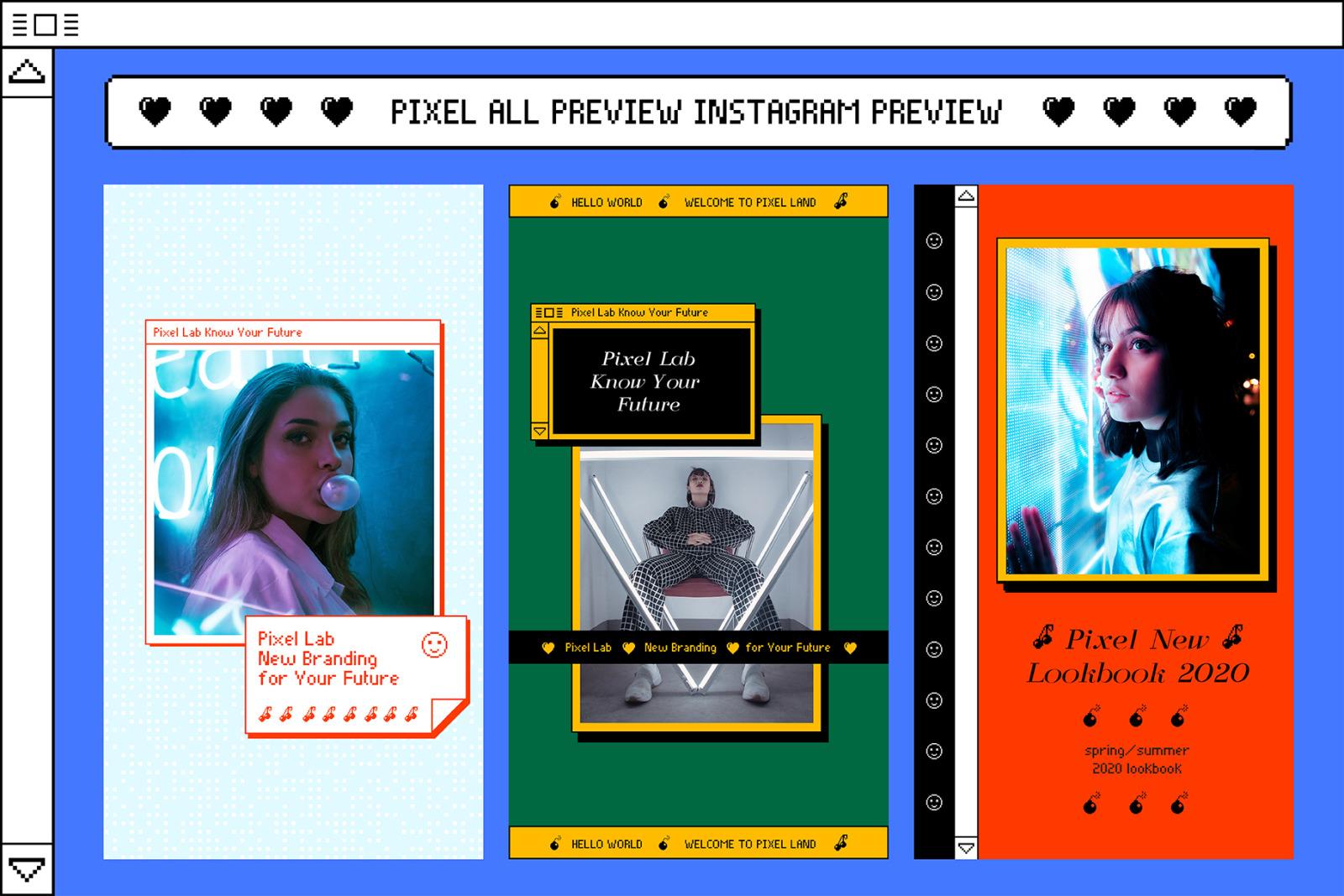 PIXEL-Instagram Stories Animation Templates