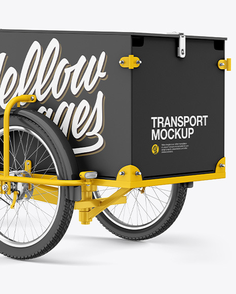 Cargo Bike Mockup - Half Side View
