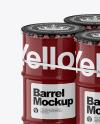 4 Barrels & Wooden Pallet Mockup