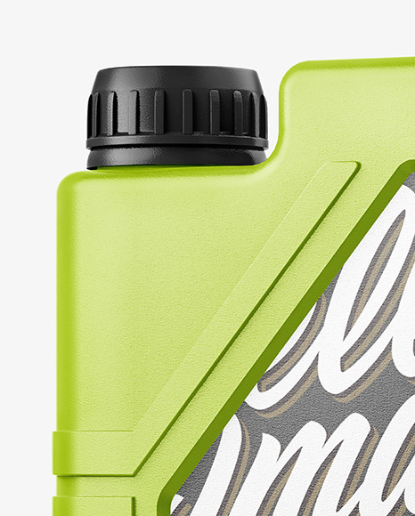 Glossy Plastic Jerry Can Mockup