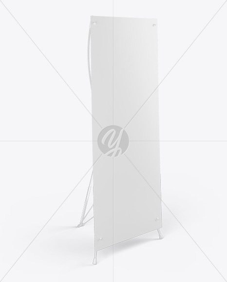 Banner Stand Mockup - Halfside View