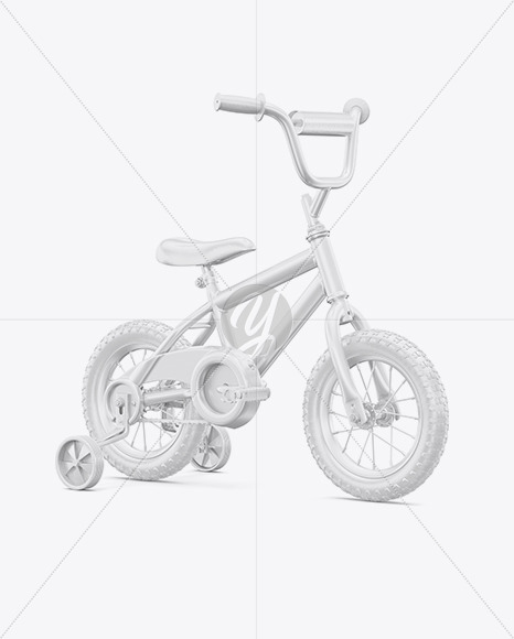 Children Bike Mockup - Half Side View - Yellowimages Mockups