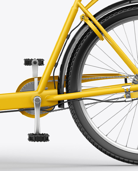 Cargo Bike Mockup - Left Side View