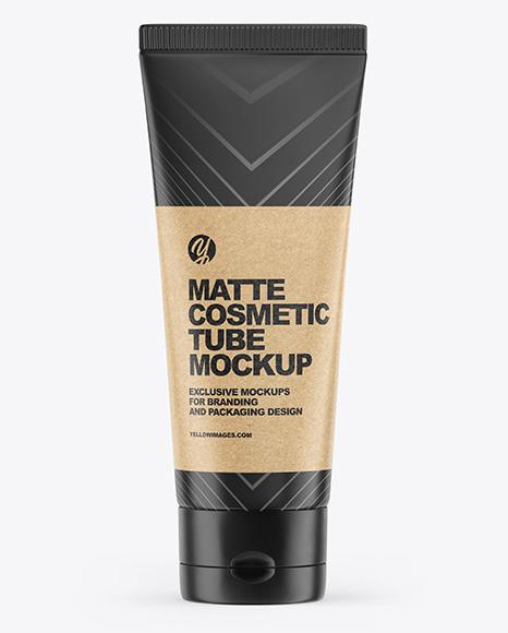 Matte Cosmetic Tube Mockup