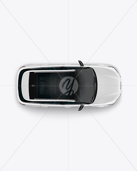 Crossover SUV Mockup – Top View - Yellowimages Mockups