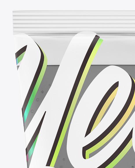 Transparent Cosmetic Tube Mockup
