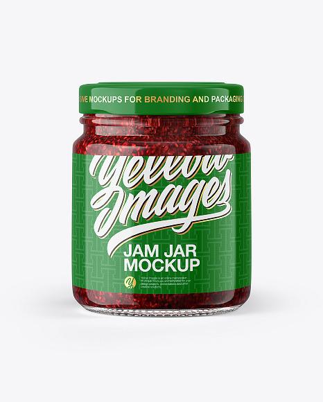 Download Jam Jar Mockup In Jar Mockups On Yellow Images Object Mockups PSD Mockup Templates