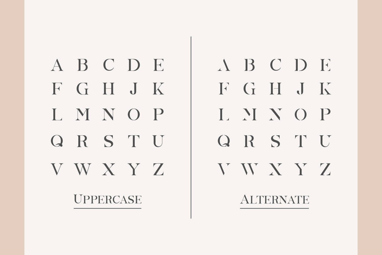 MONICA ALLCAPS - Abstract Vintage Display Font