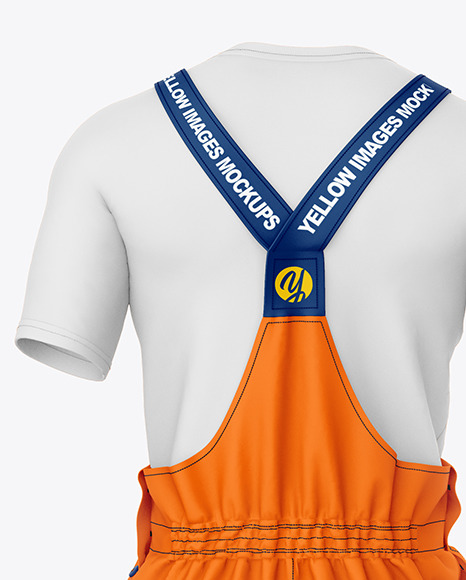 Working Summer Overalls Mockup – Back View