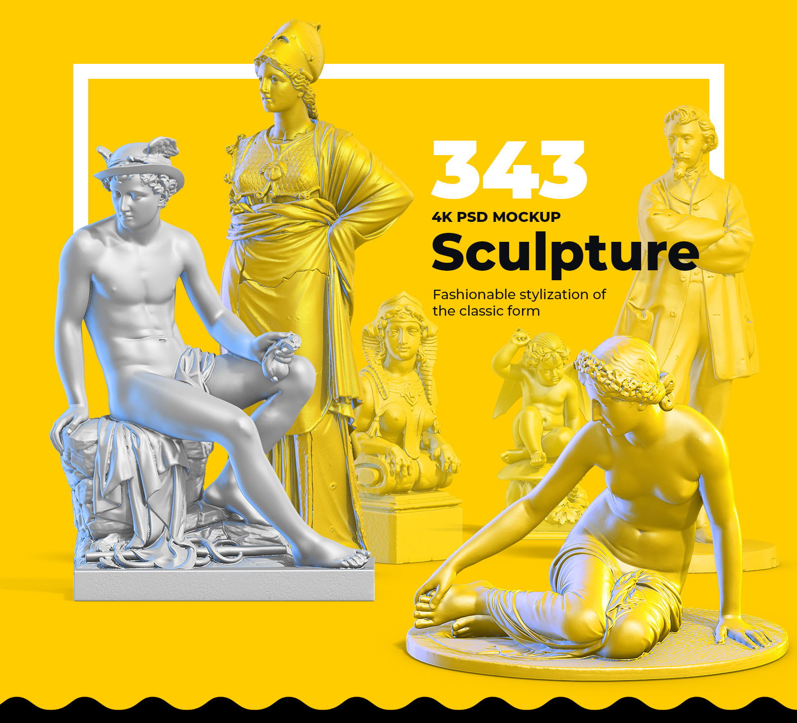 Collection of 343 Sculptures #1 for branding and design of your product