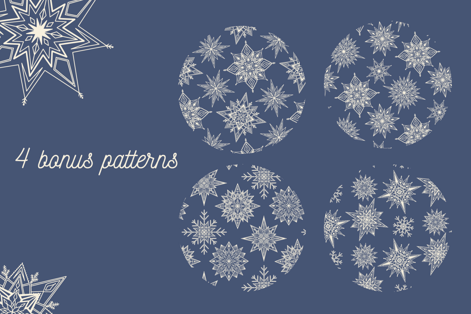 Snowy | 65 snowflakes illustrations