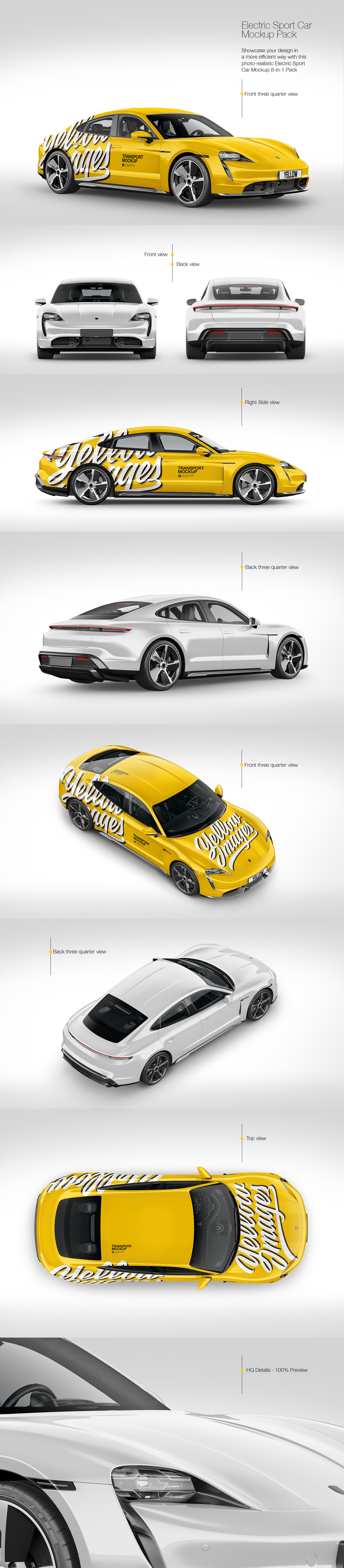 Download Electric Sport Car Mockup Pack In Handpicked Sets Of Vehicles On Yellow Images Creative Store Yellowimages Mockups