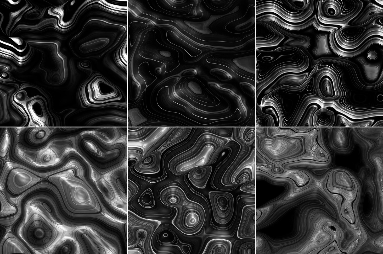 Meld: Glossy Abstract 3D Textures