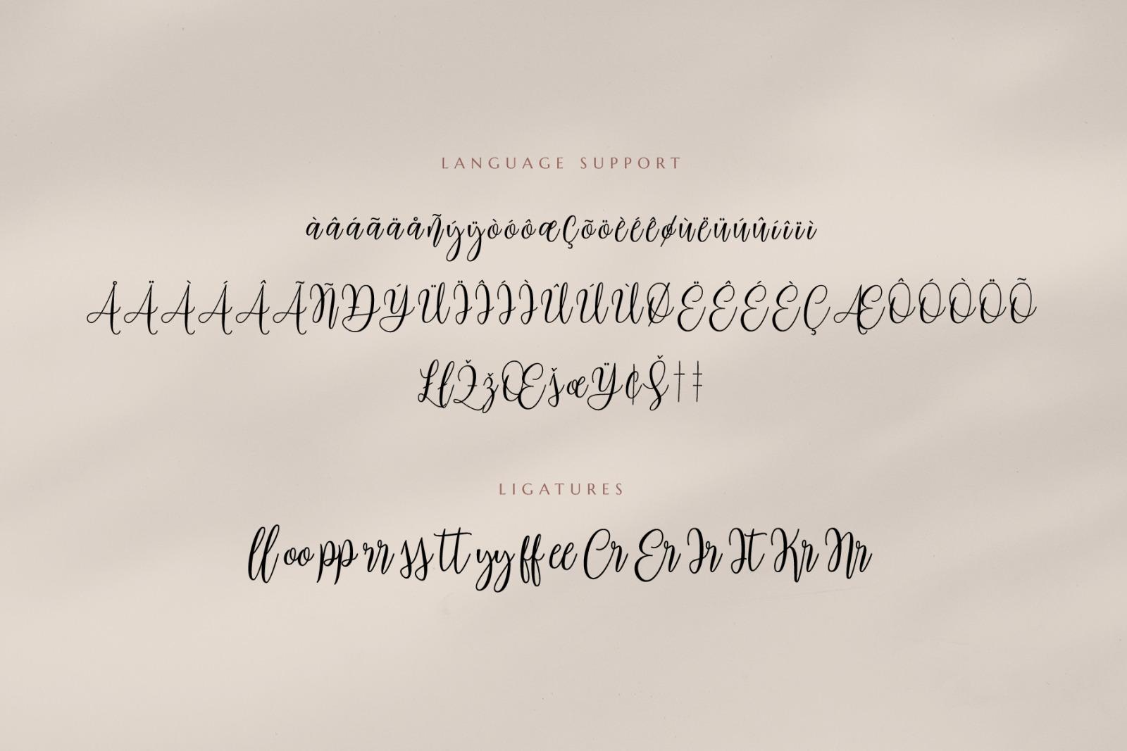 Mariposa Script Calligraphy