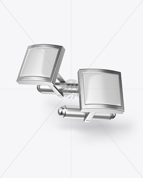 Two Cufflinks with Square Caps Mockup