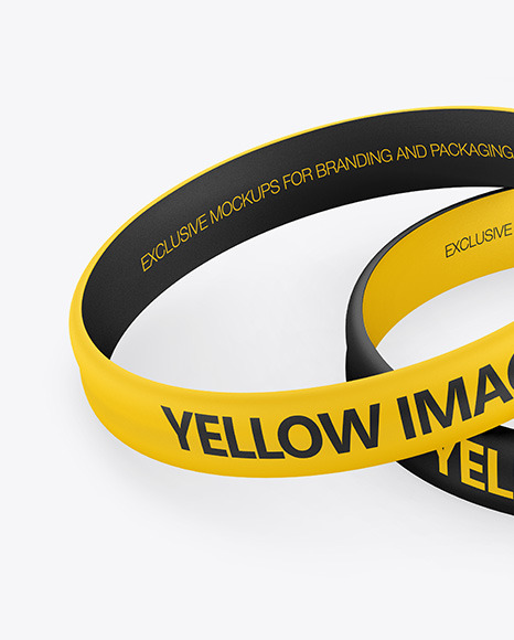 Download Rubber Wristband Mockup Yellow Images