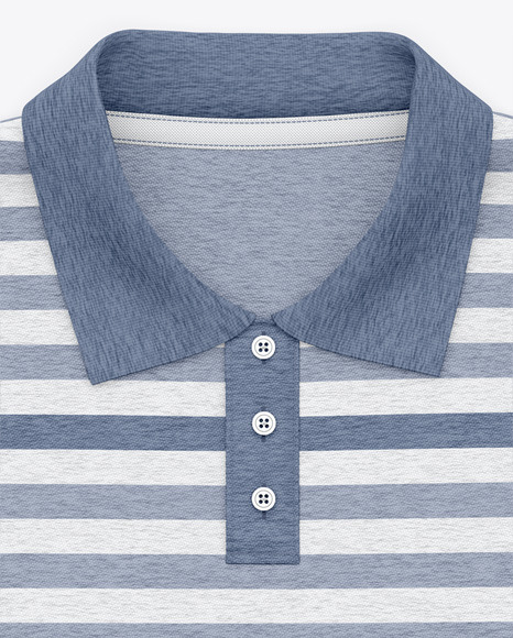 Classic Heather Short Sleeve Polo Shirt - Top View
