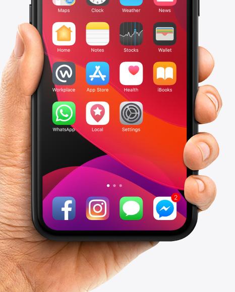 Apple iPhone 11 Pro in Hand Mockup