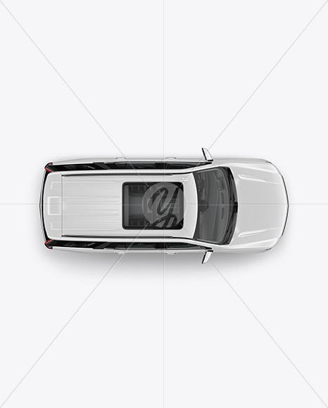 Toyota Hiace Van Mockup Free Download