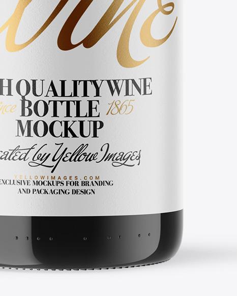 Download Dark Glass Wine Bottle Mockup In Bottle Mockups On Yellow Images Object Mockups PSD Mockup Templates