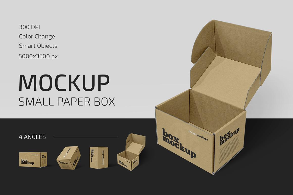 Small Paper Box Mockup Set