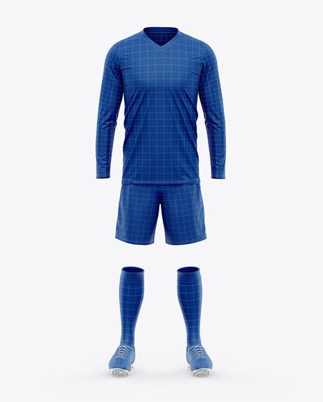 Men's LS Full Soccer Kit - Front View