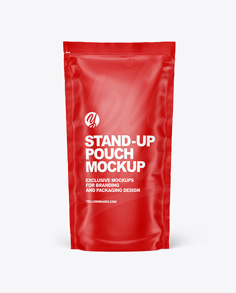 Stand Up Pouch Packaging Mockup Free