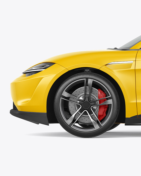 Electric Sport Car Mockup - Side View
