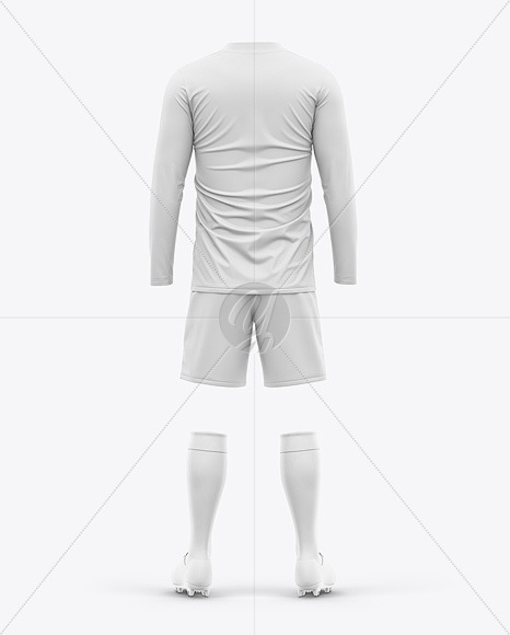 Men's LS Full Soccer Kit - Back View