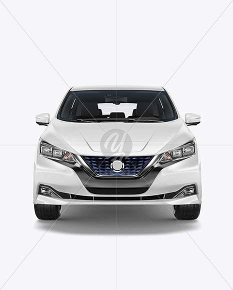 Electric Compact Car Mockup - Front View - Yellowimages Mockups