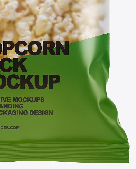 Matte Popcorn Pack  Mockup