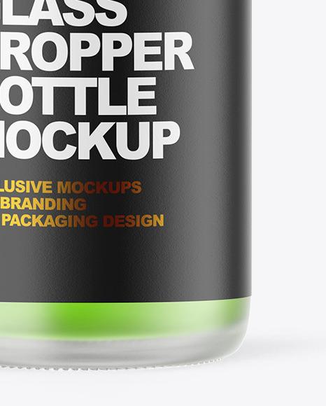 Frosted Glass Dropper Bottle Mockup