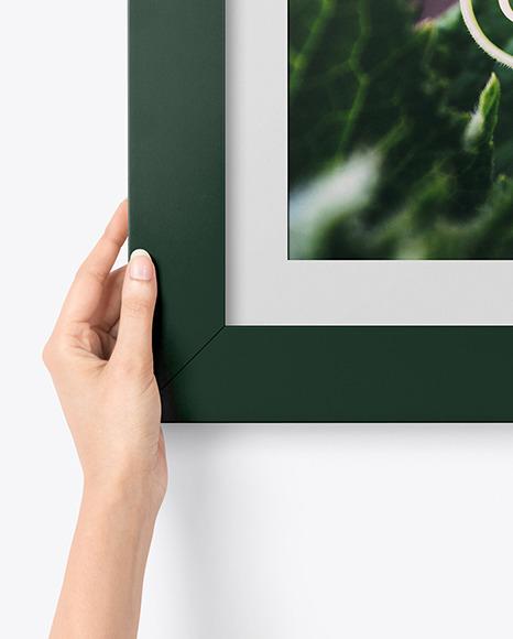 Matte Square Picture Frame Mockup