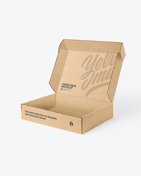 Open Mailing Box Paper Mockup