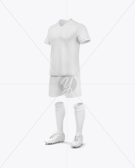 Football Kit Mockup - Half Side View