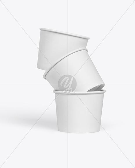 Paper Ice Cream Cup Mockup