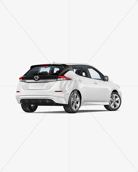 Download Electric Compact Car Mockup Back Half Side View In Vehicle Mockups On Yellow Images Object Mockups PSD Mockup Templates