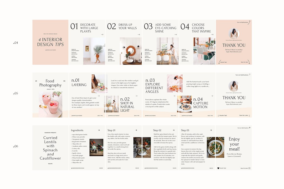 Step by Step - Carousel Templates