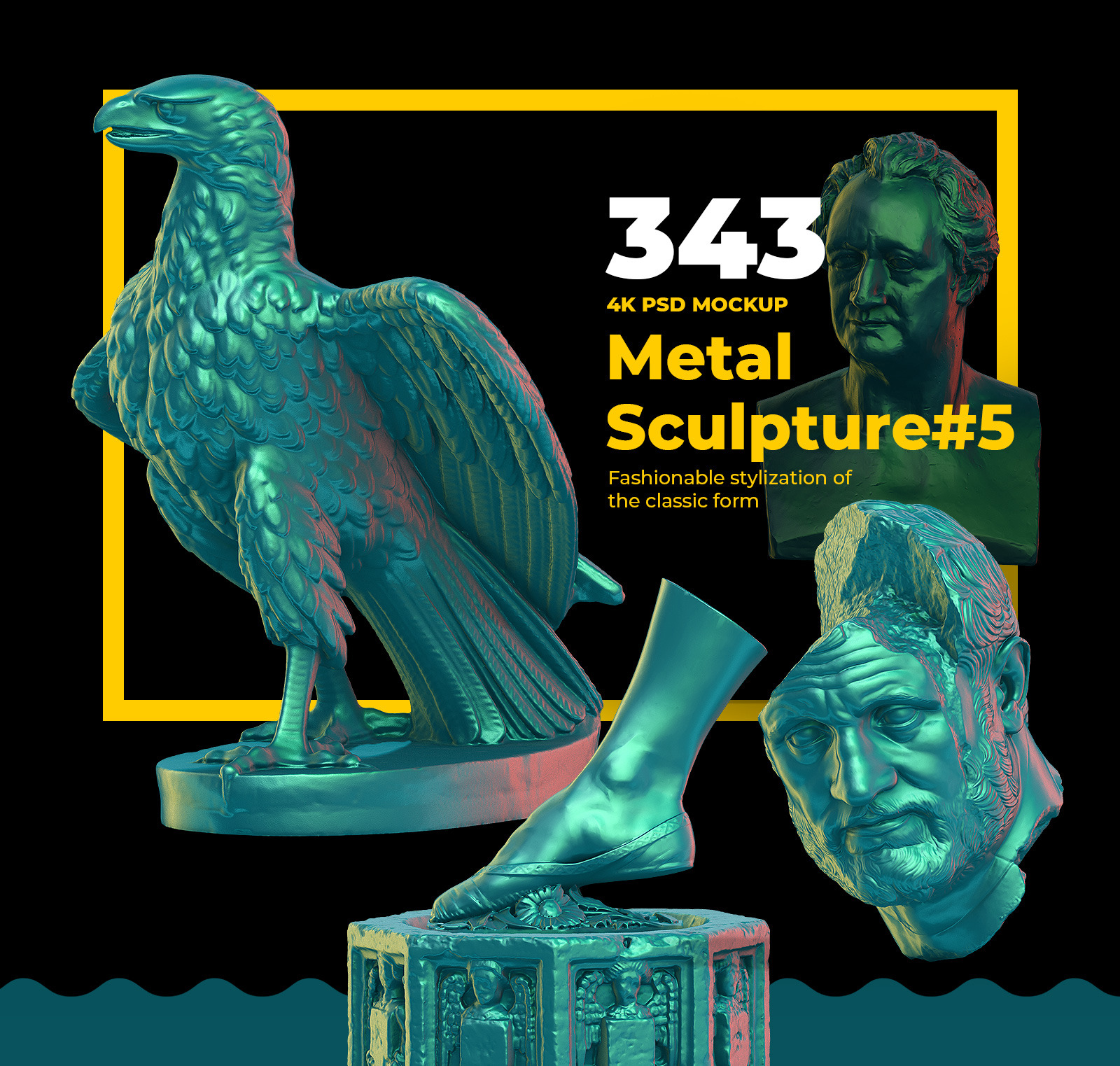 Collection of 343  Metal Sculpture #5