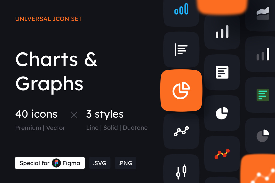 Charts and Graphs Icon Set