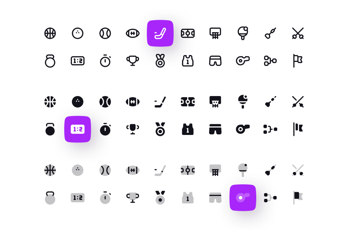 Sport and Fitness Icon Set