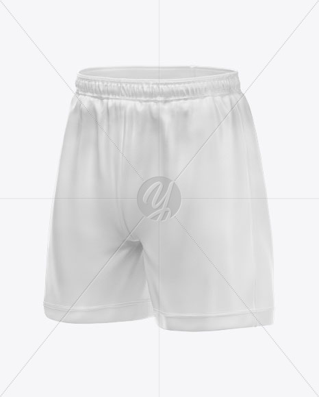 Shorts Mockup - Half Side View