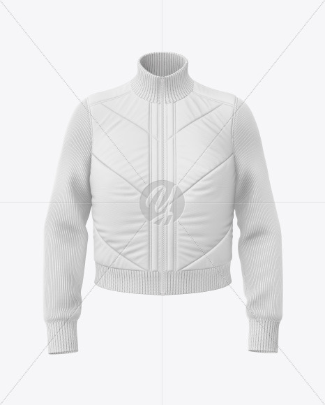 Download Matte Womens Down Vest Whood Mockup Front Half Side View Yellow Images