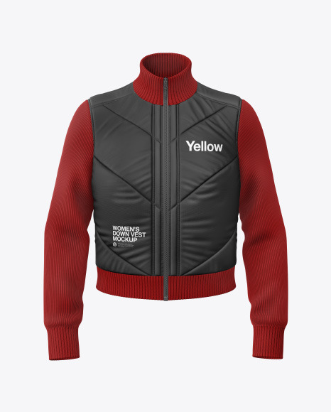 Download Matte Womens Down Jacket Mockup Back View Yellowimages