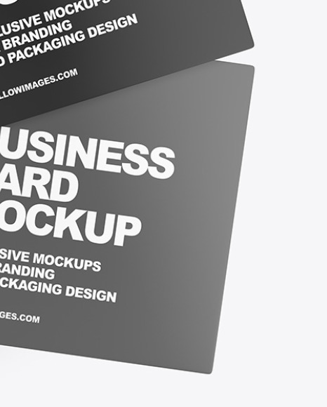 Two Business Cards Mockup
