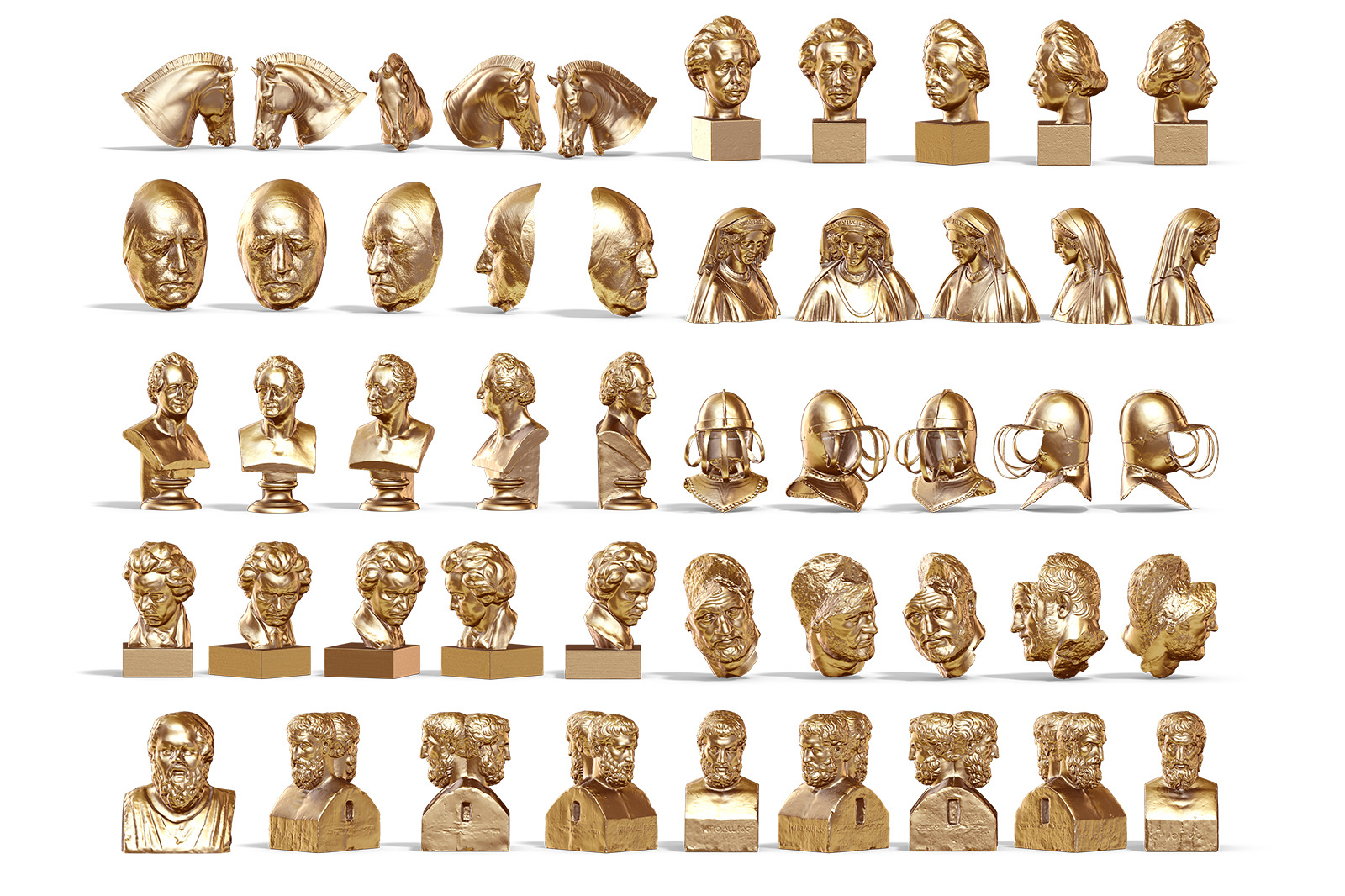Collection of 343 Sculptures Metal #6