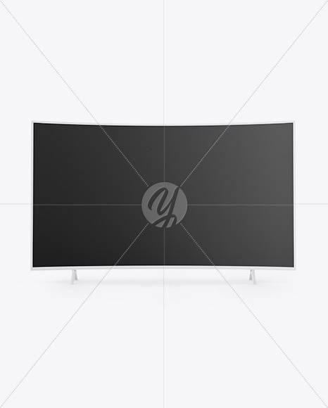 Curved TV Mockup