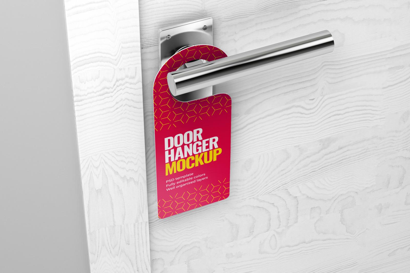 Door Hanger Mockup Set
