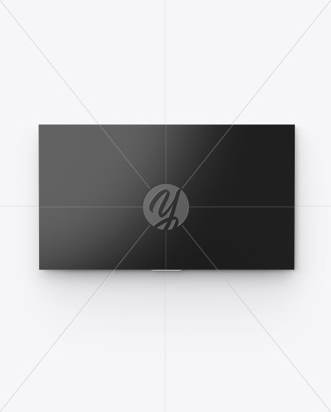 TV on Wall Mockup